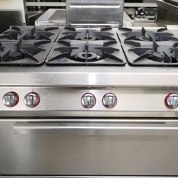 Angelopo gasvuur 6 pits met oven