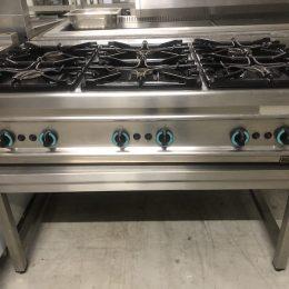 Tweedehandse Gica Gas Kooktafel type T6F. Deze kooktafel heeft 6 pitten en is verkrijgbaar bij Vanal Antwerpen Brecht.