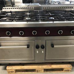 Rubbens 8 pits fornuis met 2 ingebouwde ovens tweedehands