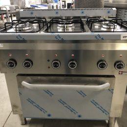 Diamond 5 Pits Fornuis met electrische oven verkrijgbaar bij Vanal NV Antwerpen Brecht
